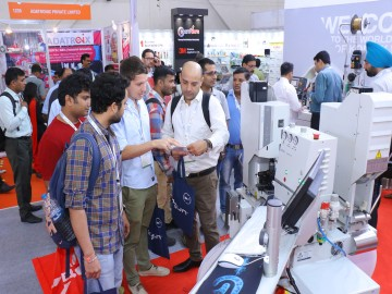 Visitors at electronica India and productronica India 2018